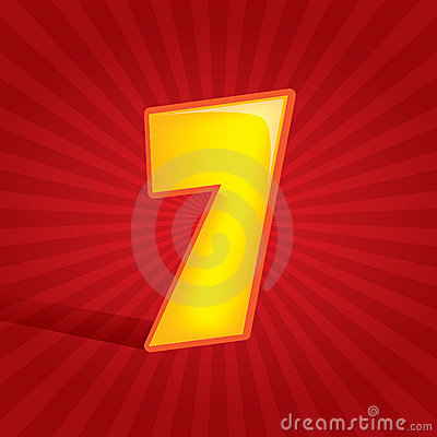 Free Number Seven Royalty Free Stock Photography - 11207617