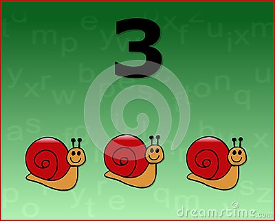 Number snail
