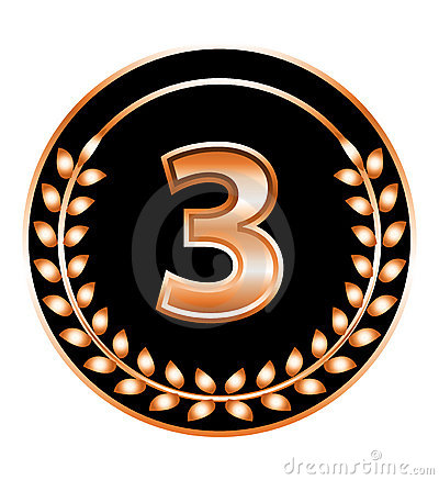 Number three medal