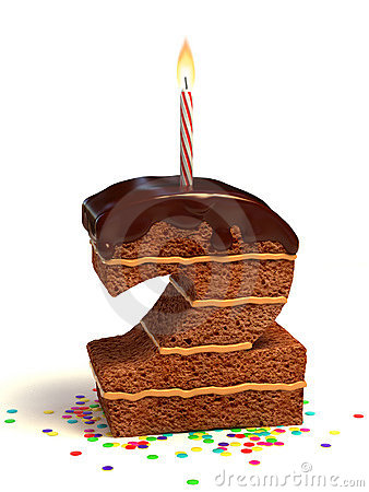 Free Number Two Shape Birthday Cake Stock Photo - 17074450