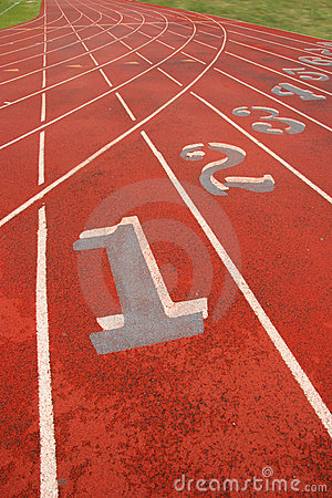 Free Numbered Athletic Tracks Royalty Free Stock Photo - 2236235