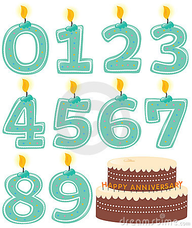 Free Numbered Candle Set And Cake Royalty Free Stock Images - 10325909