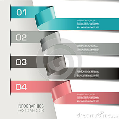 Free Numbered Infographic Banners Royalty Free Stock Photography - 34667767