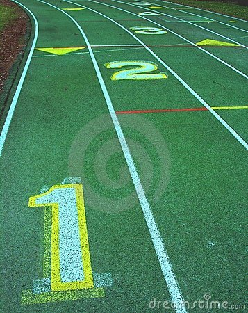 Free Numbered Lanes Royalty Free Stock Images - 475999