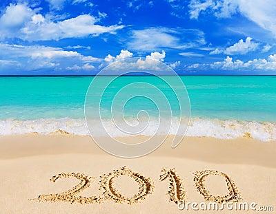 Numbers 2010 on beach