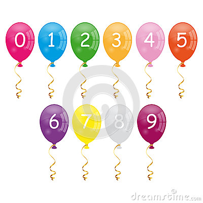 Numbers balloons
