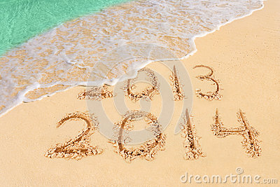 Numbers 2014 on beach