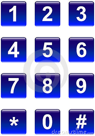 Free Numbers Buttons Royalty Free Stock Image - 11569776