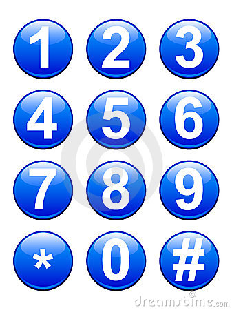 Free Numbers Buttons Royalty Free Stock Photo - 15195535