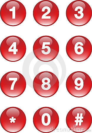 Free Numbers Buttons Stock Photo - 4055590