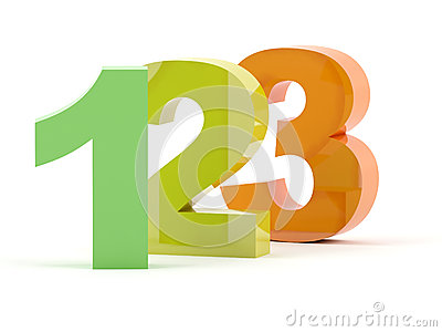 123 3D numbers