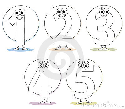 Numbers for coloring books, part 1