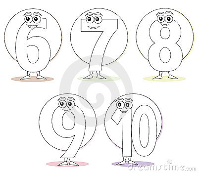 Numbers for coloring books, part 2