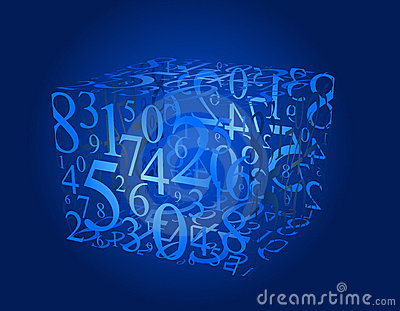 Numbers cube