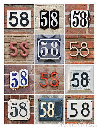 Numbers Fifty-eight