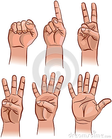 Numbers on the fingers