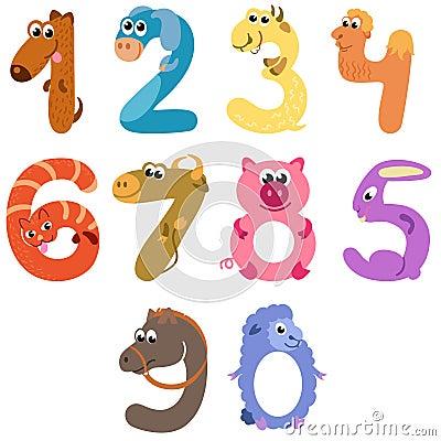 Numbers like farm animals