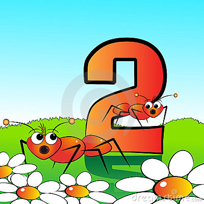 Free Numbers Serie For Kids - 02 Stock Photo - 9385380