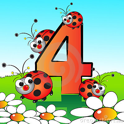 Free Numbers Serie For Kids - 04 Royalty Free Stock Images - 9385439