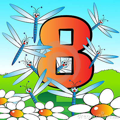 Numbers serie for kids - #08
