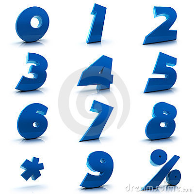 Free Numbers Set Stock Images - 16878884