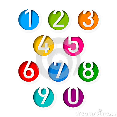 Free Numbers Set Royalty Free Stock Photos - 25138398