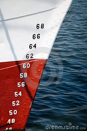 Numbers of ships depth gauge