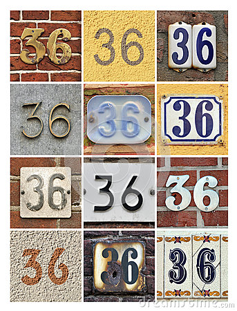 Numbers Thirty-six