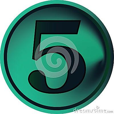 Numeral button-five