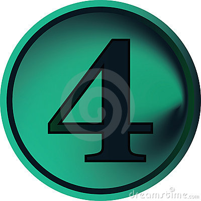 Free Numeral Button-four Stock Image - 4850971