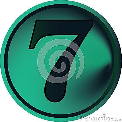 Numeral button-seven
