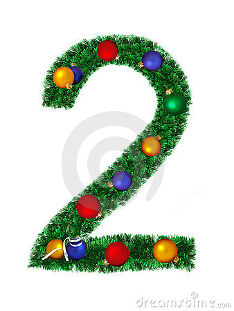 Numeral from christmas decoration - 2