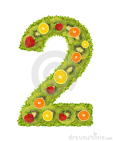 Numeral from fruit - 2