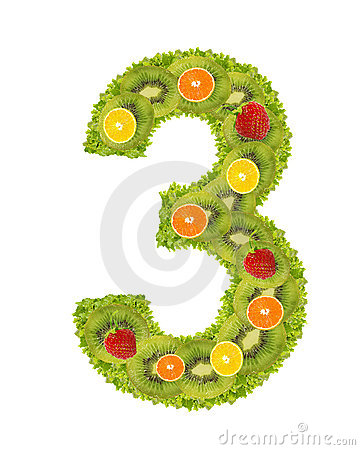 Numeral from fruit - 3