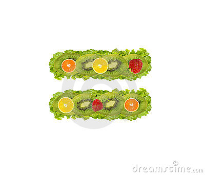Numeral from fruit - equal