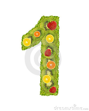 Numeral from fruits - 1