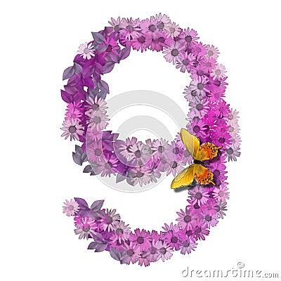 Numero O Numero 9 Immagini Stock - Immagine: 4534544