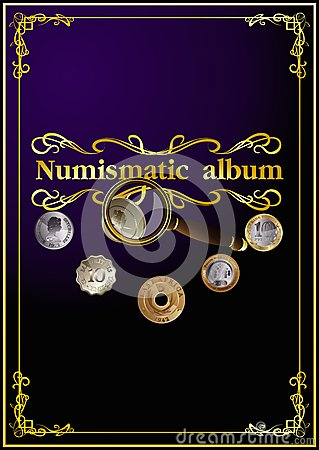 Free Numismatic Cover Album. 01 (vector) Royalty Free Stock Photo - 35720475