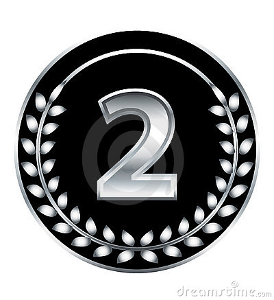 Nummer zweimedaille