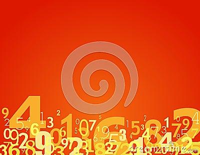 Nummeriert Hintergrund