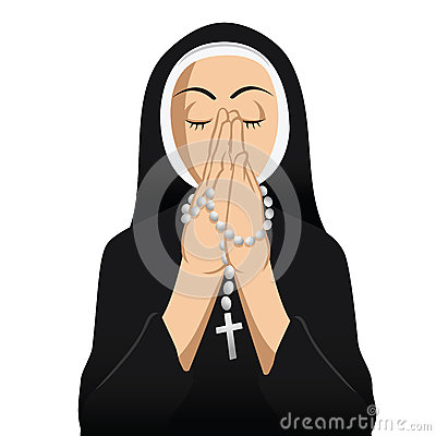 Nun Catholic praying