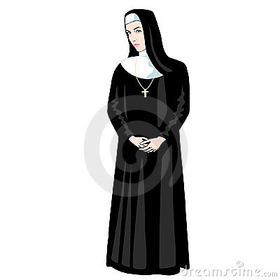 Nun with Cross isolated vector