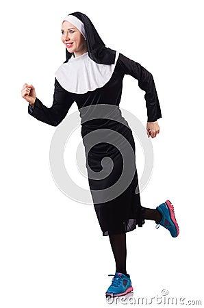 Nun isolated
