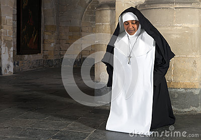 Nun kneeling