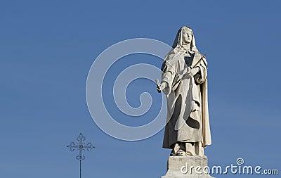 Nun statue