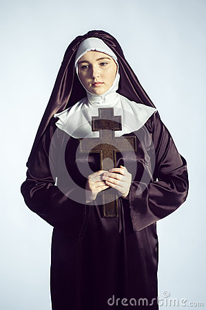 Free Nun With Cross Stock Photos - 64820853