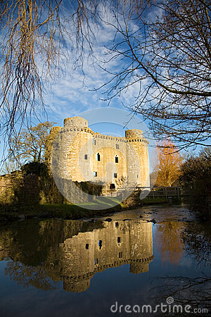 Nunney Castle, Somerset, England, UK