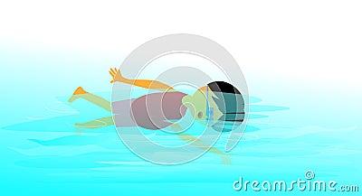 Nuoto del ragazzo