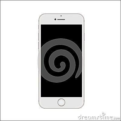 Nuova versione dello smartphone esile bianco illustrazione - Scelta dello smartphone ...