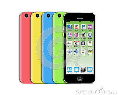 Nuovo iphone 5c di Apple Immagine Stock Editoriale